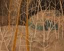 Winter in Kiruna, tekening op papier, 30x34cm