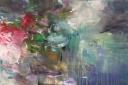 ohne Titel, 2014, Acryl auf Leinwand, 80 x 120 cm