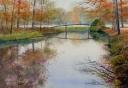Frank Zindler, herfst in bantam, aquarel, 60x50cm