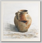 Frank Zindler, Oude kruik, aquarel, 51x61cm