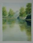Frank Zindler, landgoed bentam, aquarel, 50x70cm