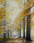 Frank Zindler, Un dimanche en automne, aquarel, 50x60cm