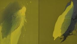 Nachtbaum, olieverf op linnen,x60x70cm, 2 luik