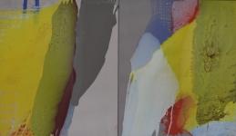 Nacht baum, olieverf op linnen,x60x70cm, 2 luik