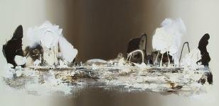 Seashore, acryl op linnen, 120x60cm