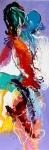 Liefdesverhaald 2, acryl op linnen, 50x150cm