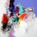 My heart in wide open, acryl op linnen, 110x110cm