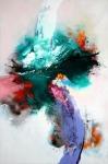 Winters landschap, acryl op linnen, 100x150cm