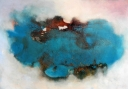 Ile turquois, mixed media, 70x100cm