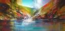 Noorwegen, acryl op linnen, 180x80cm