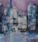 Evening blues 110-100 cm